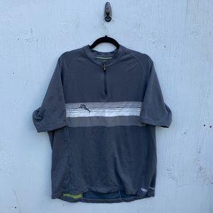 Tommy Bahama Half Zip Polo Short Sleeve Shirt